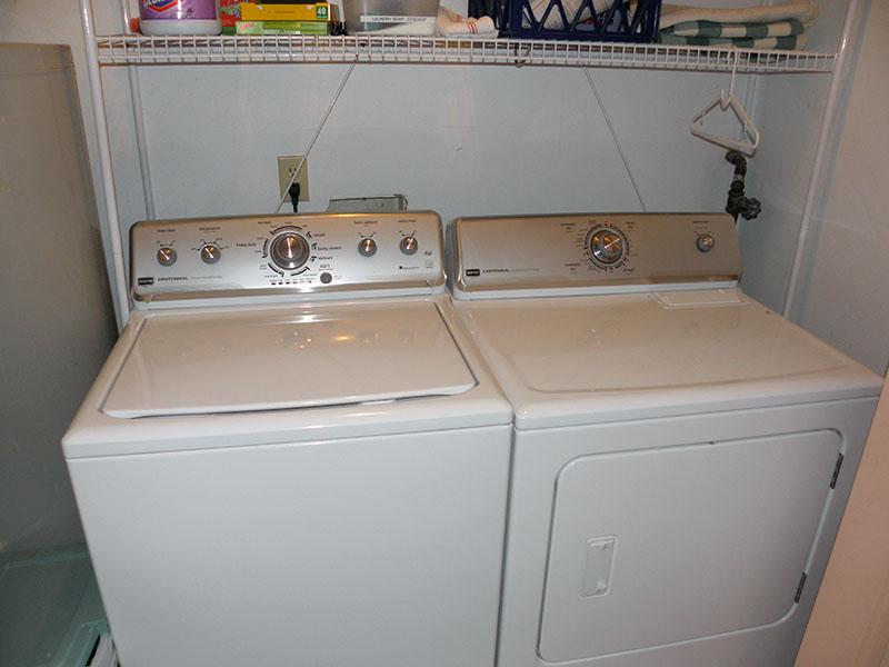 The 1st-floor laundry