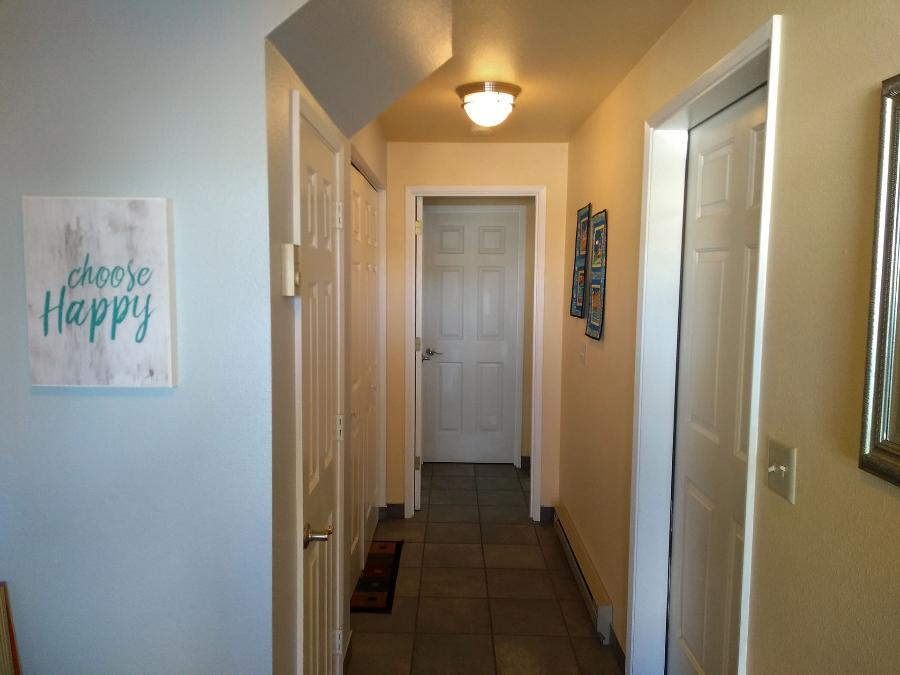 The downstairs hallway