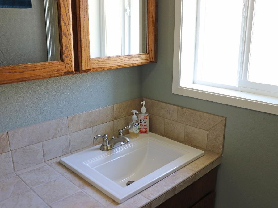 The downstairs guest bathroom