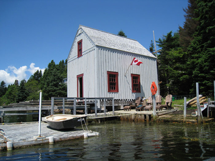 Gull Cottage boat house and dock