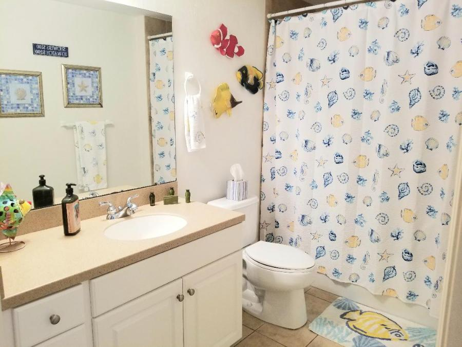Guest bath with combo tub/shower