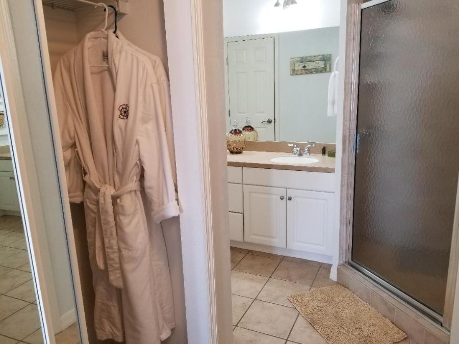Bath robes for guest use